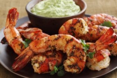 Grilled Cilantro-Lime Shrimp With Spicy Hass Avocado Puree, photo by Fresh Avocados - Love One Today