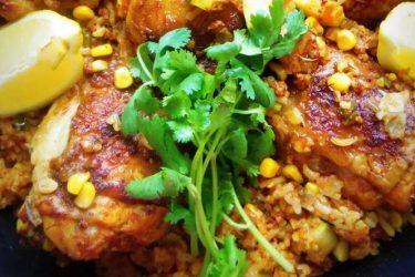 Arroz con Pollo with Mexican Chorizo, photo by Sonia Mendez Garcia