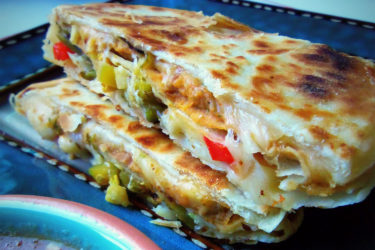 Sincronizadas: Double-Stacked Quesadillas, photo by Sonia Mendez Garcia