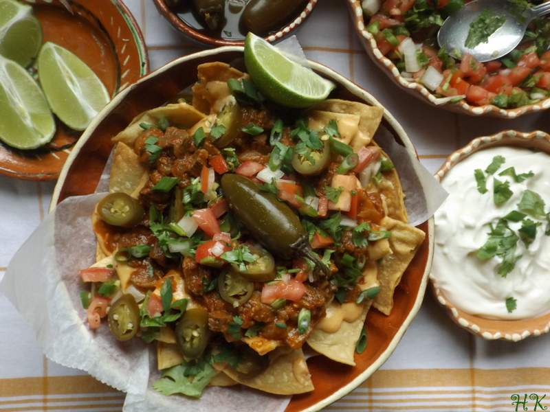 Chile Morita Beef Nachos with Spicy Queso