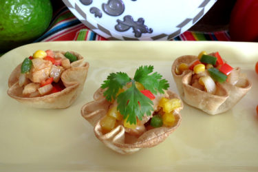 Chicken Fajita Cups, photo by Hispanic Kitchen