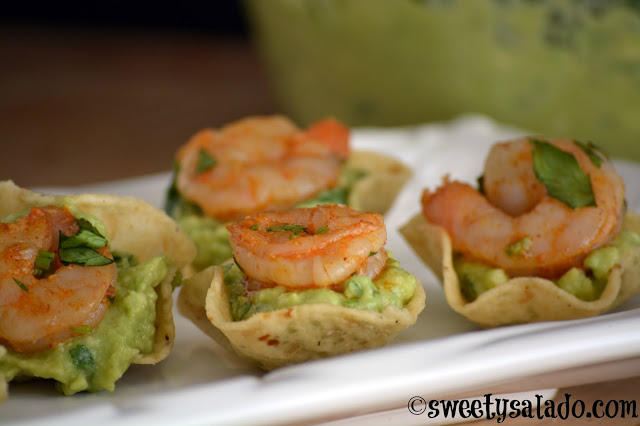 Shrimp Guacamole Appetizer, photo by Sweet y Salado