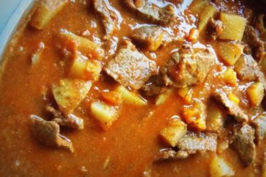 Carne Guisada con Papas (Mexican Braised Beef With Potatoes), photo by Sonia Mendez Garcia