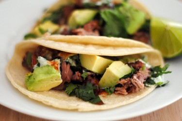 Carnitas Tacos With Cilantro Lime Sauce, photo by Sweet y Salado