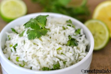 Cilantro Lime Rice, photo by Sweet y Salado