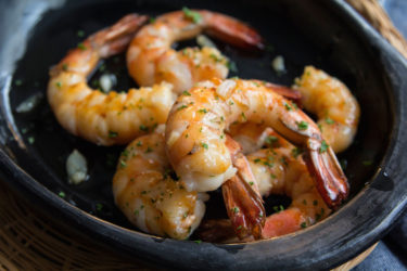 Gambas al Ajillo (Shrimp in Garlic Sauce), photo by Hispanic Kitchen