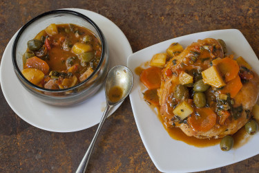 Puerto Rican Pollo Guisado (Stewed Chicken), photo by Hispanic Kitchen