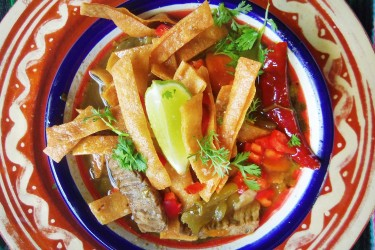 Steak Tortilla Soup, photo by Sonia Mendez Garcia