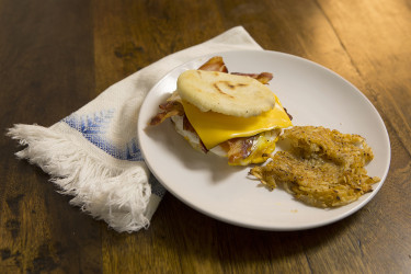 American Breakfast Arepas, photo by Santiago Gomez de la Fuente