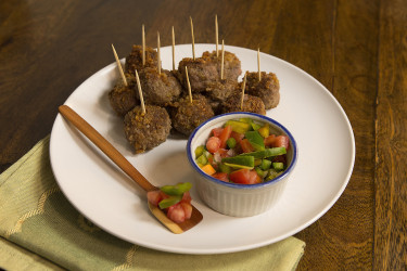 Chicharrón Meatballs, photo by Santiago Gomez de la Fuente
