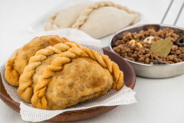 Argentinean Fried Beef Empanadas, photo by Una Pizca