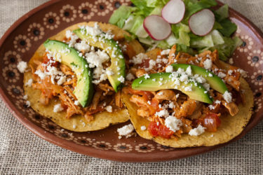 Tostadas de Tinga Poblana, photo by Hispanic Kitchen