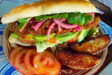 Beef Milanesa Torta, photo by Sonia Mendez Garcia