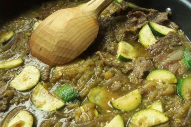 Beef Chile Verde With Zucchini, photo by Sonia Mendez Garcia
