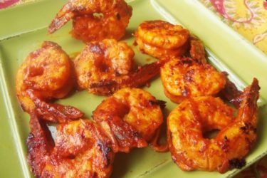 Camarones al Pastor (Achiote-Pineapple and Chipotle Marinated Shrimp), photo by Sonia Mendez Garcia