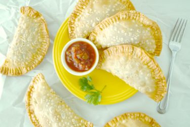 Cheesy Rice and Beans Empanadas, photo by Sonia Mendez Garcia