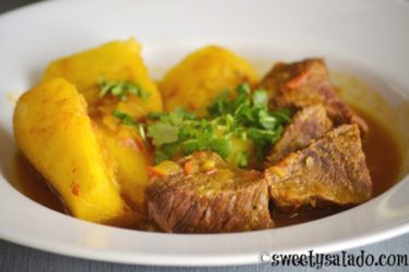 Sudado de Carne (Colombian Beef Stew), photo by Sweet y Salado