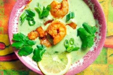 Avocado Shrimp Bisque, photo by Sonia Mendez Garcia