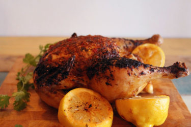 Roast Chicken with Lemon and Annatto, photo by Sonia Mendez Garcia