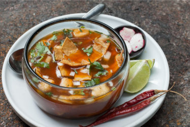 Pork Chile Colorado Pozole, photo by Sonia Mendez Garcia