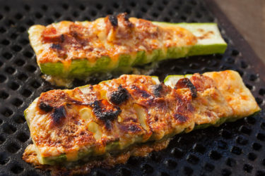 Grilled Calabacitas (Hasselback Zucchini), photo by Sonia Mendez Garcia