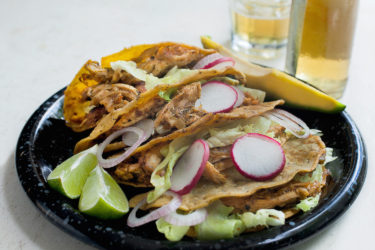 Braised Chicken Poblano Tacos, photo by Sonia Mendez Garcia