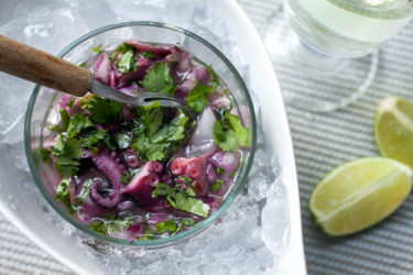 Octopus Ceviche, photo by Fernanda Alvarez