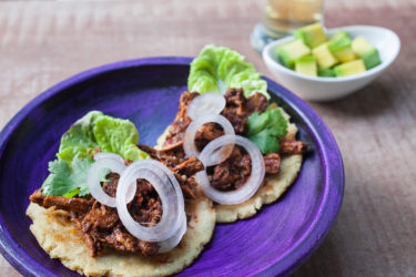 Adobo Chicken Panuchos, photo by Sonia Mendez Garcia