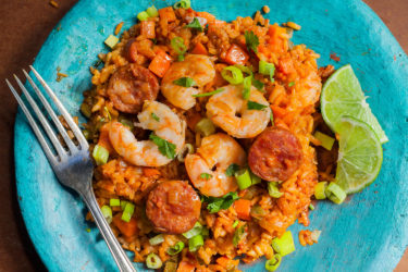 One-Pot Rice with Shrimp and Sausage, photo by Sonia Mendez Garcia