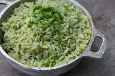 Mexican Green Rice, photo by Fernanda Alvarez