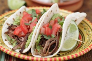 Tacos de Carne Marinada (Sirloin Steak Tacos), photo by Denisse Oller