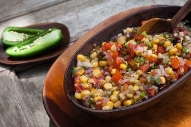 Fresh Corn Chipotle Salsa, photo by Hispanic Kitchen