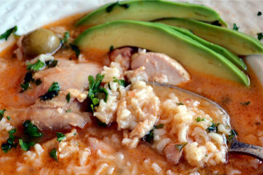 Asopao de Pollo (Puerto Rican Chicken and Rice Stew), photo by Norma Torres