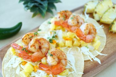 Blackened Shrimp With Pineapple Salsa, photo by Sonia Mendez Garcia