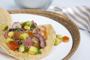 Ceviche de Pulpo en Tostada, photo by Hispanic Kitchen