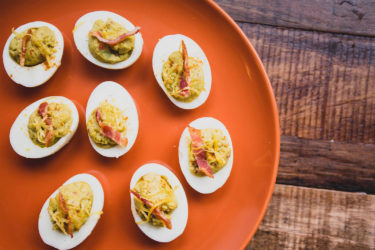 Avocado and Bacon Deviled Eggs, photo by Fresh Avocados - Love One Today
