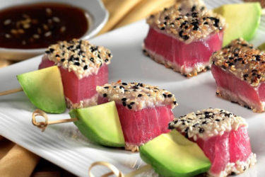 Avocado and Tuna Skewers, photo by Fresh Avocados - Love One Today