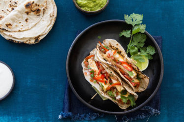 Veggie and Tofu Fajitas, photo by Hispanic Kitchen