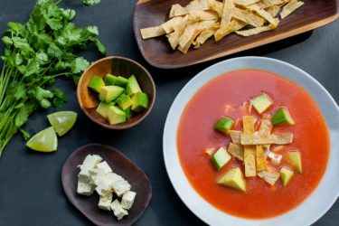 Sopa de Tortilla (Tortilla Soup), photo by Santiago Gomez de la Fuente