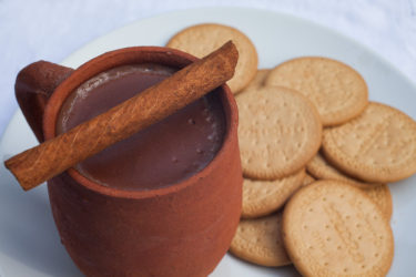 Atole de Chocolate (Warm Mexican Chocolate Cereal), photo by Sonia Mendez Garcia