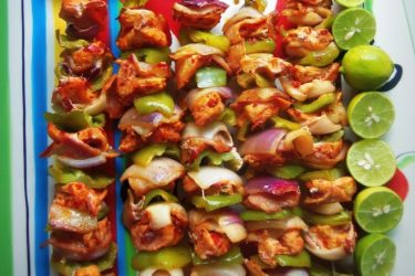 Alambritos de Pollo (Chicken Kabobs), photo by Sonia Mendez Garcia