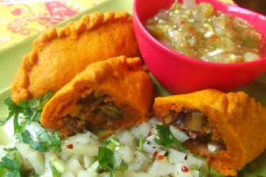Beef and Vegetable Empanadas Infused With Annatto, photo by Sonia Mendez Garcia