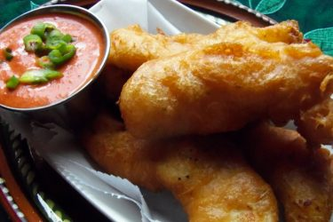 Beer-Battered Chipotle Chicken Strips, photo by Sonia Mendez Garcia