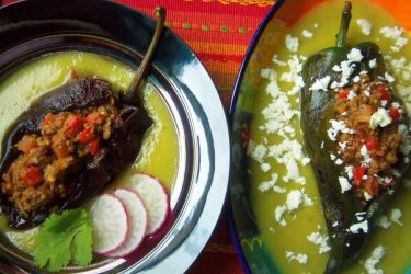 Stuffed Chile Ancho and Poblano Peppers, photo by Sonia Mendez Garcia