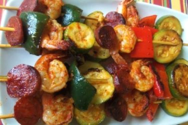 Shrimp and Chorizo Kabobs, photo by Sonia Mendez Garcia