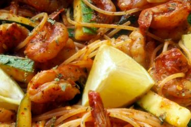 Chile de Arbol Shrimp and Pasta, photo by Sonia Mendez Garcia