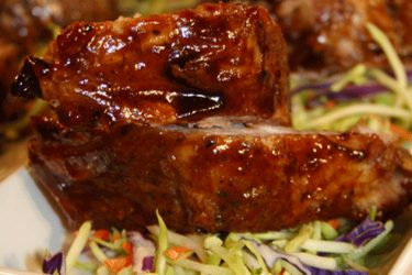 Pork Ribs in Mango Sauce, photo by Hispanic Kitchen