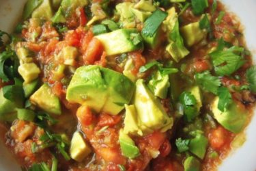 Roasted Garlic Tomato Salsa With Avocado, photo by Sonia Mendez Garcia