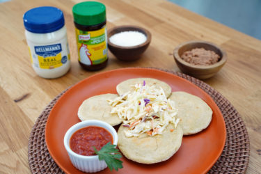 Salvadorian Pupusas (Stuffed Masa Cakes), photo by Hispanic Kitchen