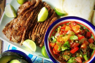 Steak and Grilled Pico de Gallo, photo by Sonia Mendez Garcia